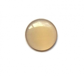 Cat Eye Cabochon Beige 18mm Rond