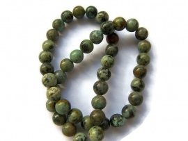 Afrikaanse Turquoise rond 6mm per streng
