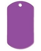 Dogtag Purple aluminium