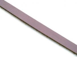 Leer Koord Plat Lavendel 8mm  (85cm)