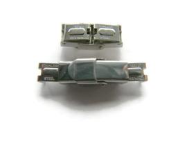 Leer klem Slot RVS  voor 7mm breed leer Zilverkleur