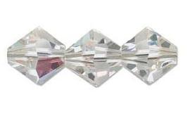 Swarovski kralen Bicone 4mm Crystal AB (10st.)