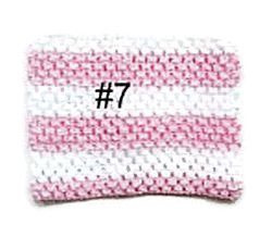 Gehaakte Top #7 Pink / White S  (maat 50 t/m 80)