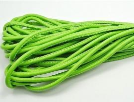 Koord gestikt imitatie Leer 5mm Licht Groen