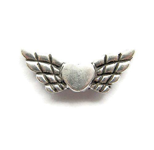 Engelen Vleugels Hart zilverkleur