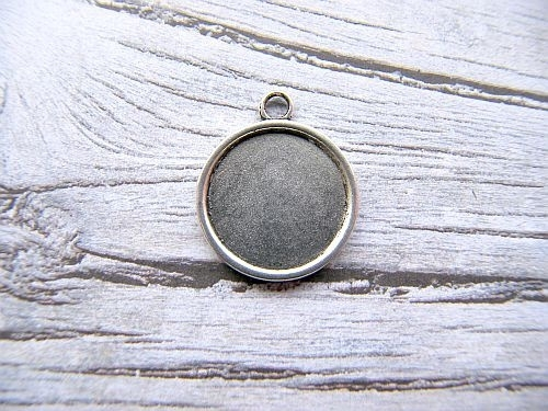 Cabochon hanger rond voor 18mm cabochon 002