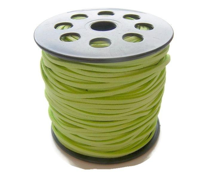 Faux Suede Appel Groen 3mm