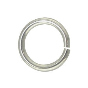 Jump ring Silver Plated 7mm, 1mm dik