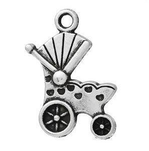 VOORDEELVERPAKKING 30 stuks Bedel Baby Kinderwagen Antique Silver