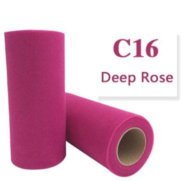 Tule Deep Rose 15cm breed  rol 22 meter C16