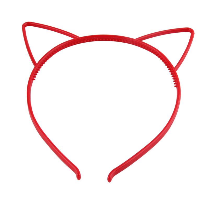Haarbeugel Kattenoortjes Rood