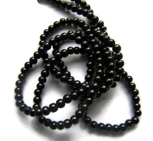 Glasparel Zwart 4mm (Per streng)