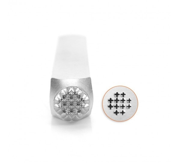 Design Stempel Small Cross Texture 6mm ImpressArt