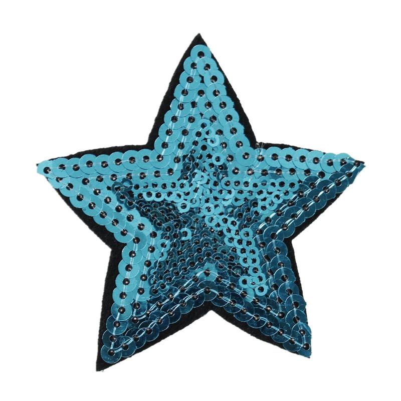 Applicatie Ster Pailletten Blauw