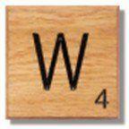 Houten Scrabble Letter W