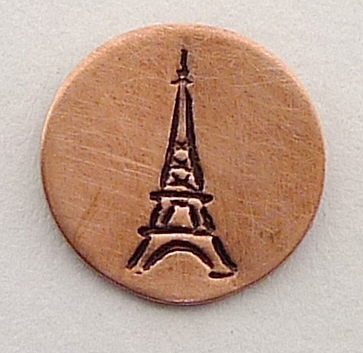 Design stempel Eiffel tower 6mm UB