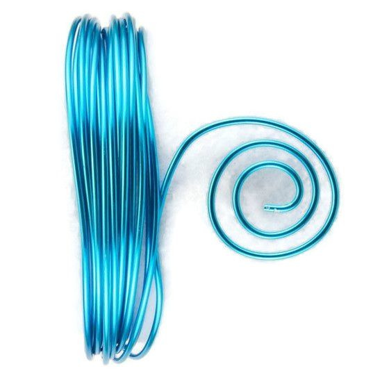 AluDeco Wire 2mm Turquoise Round (5m)