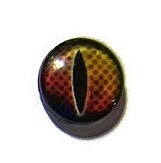 Dragon Eye 004, 16mm Glas Cabochon Rond