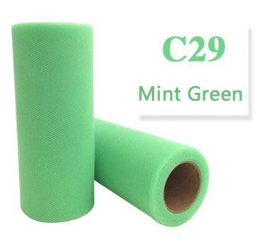 Tule  Mint Green 15cm breed XXL rol 90 METER C29