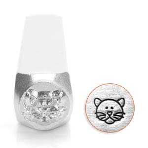 Design stempel Cat Face  6mm ImpressArt