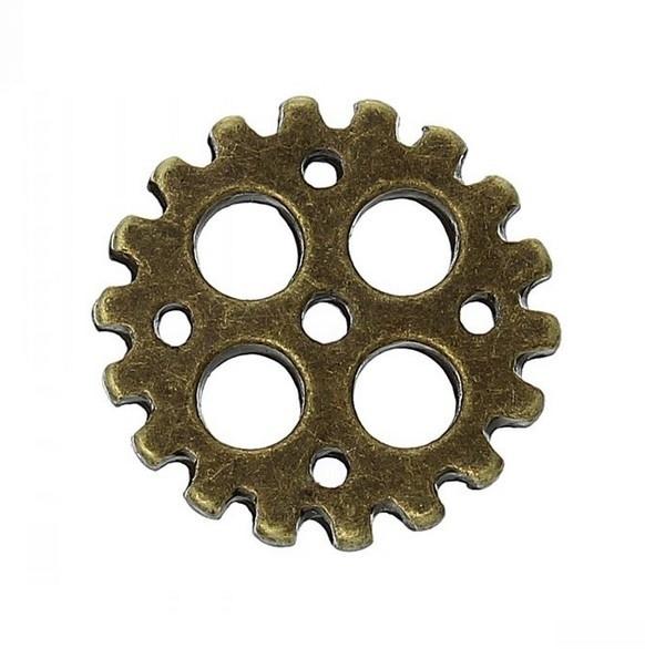 Bedel tandwiel steampunk brons 003