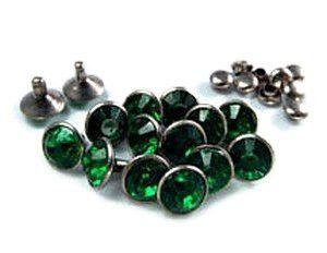 Crystal Rivet Emerald rond (2st) ImpressArt