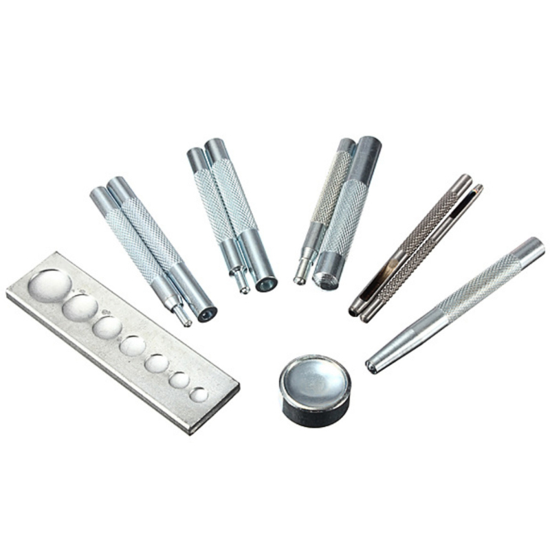 11 delige drukknopen tool set voor diverse maten.