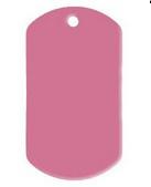VOORDEELVERPAKKING 15 stuks Dogtag Roze Groot aluminium