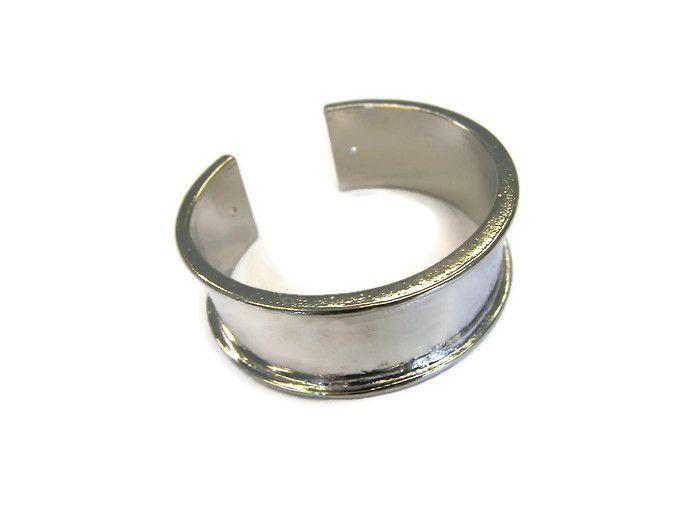 Metalen Open Cuff  Armband Channel Breed