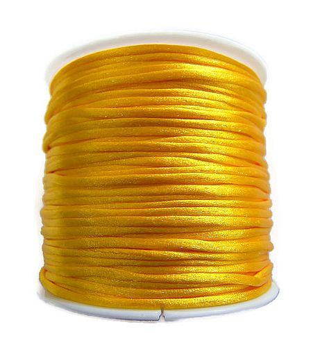 Voordeelverpakking rol van 10 meter Satijnkoord Marigold 2mm