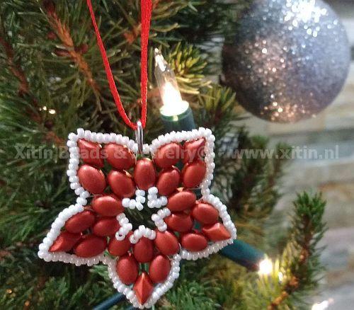 """Gratis """"Christmas Flower"""" Patroon bij aankoop van 1 zakje Samos of Gemduo kralen"""