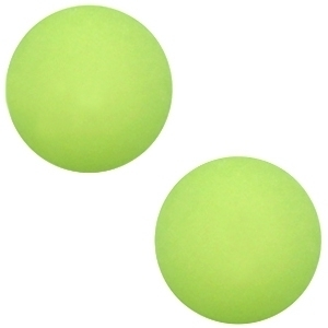 Cabochon Polaris matt 20 mm Light peridot green