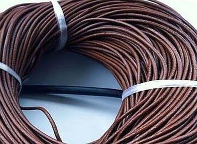 Koord Leatheroid 2mm dik Coffee Brown