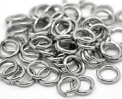 VOORDEELVERPAKKING 500 stuks Jump ring Silver Tone RVS 5mm