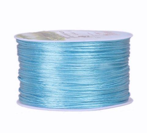 Satijnkoord Hemels Blauw 1mm dik