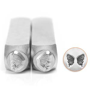 Design stempel set Butterfly Wings  6mm ImpressArt