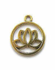 Bedel Lotusbloem in ring  Goudkleur