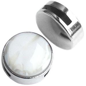 DQ Cuoio polaris cabochon slider Zilver voor 20mm cabochon (15mm leer)