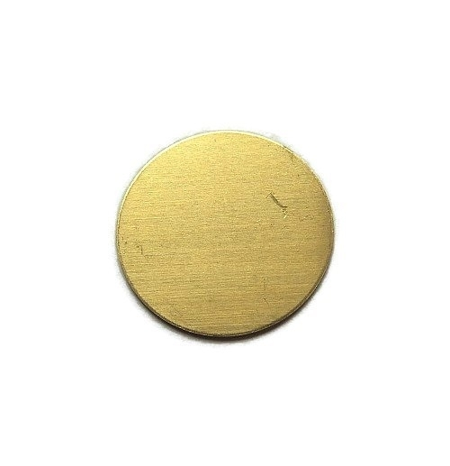 Tag Rond Messing 25mm Premium