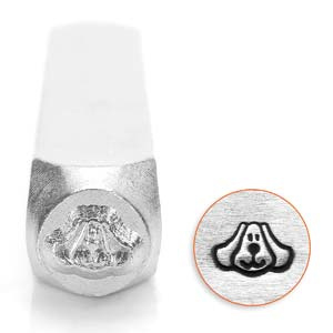 Design stempel Dog Face  6mm ImpressArt
