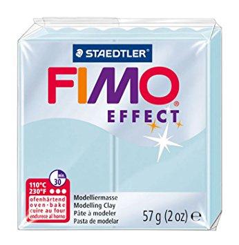 Fimo Effect  Edelsteen IJs Quarts Blauw No.306