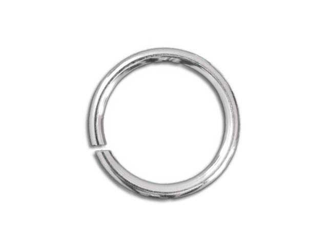 Jump ring silver tone 8mm (1mm dik)