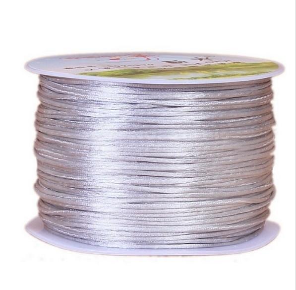 Satijnkoord Zilver Grijs 1mm dik