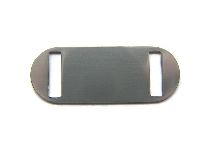 GROOTVERPAKKING 15 stuks Connector Slider Tag Ovaal Aluminium