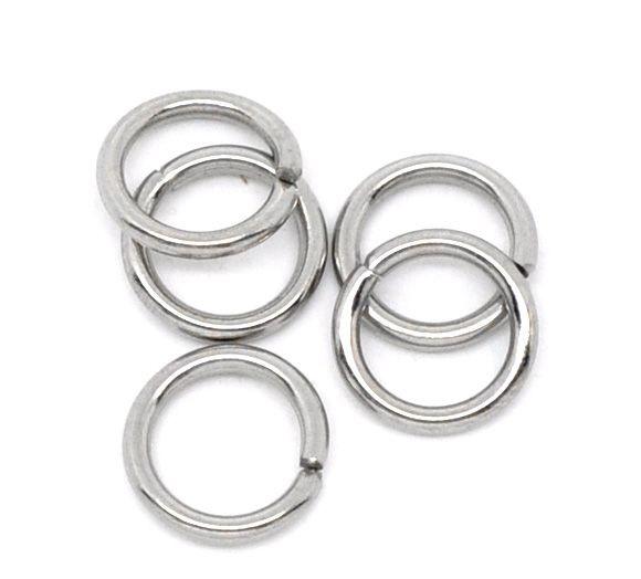 Jump ring Silver Tone RVS 10mm (25st)
