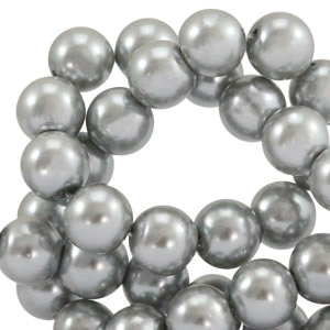 Glasparel Silver Grey 8mm (Per streng)