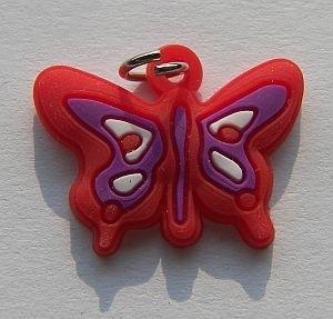 Rubber Loomband Bedel Vlinder Rood
