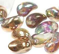 Czech Lily Petals Copper Rainbow