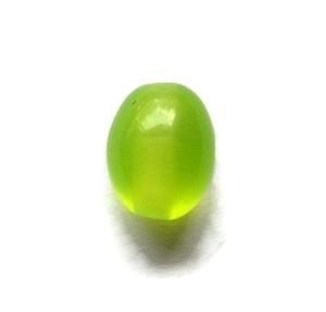 Cat Eye Kralen Lime Groen Ovaal Groot (10st)