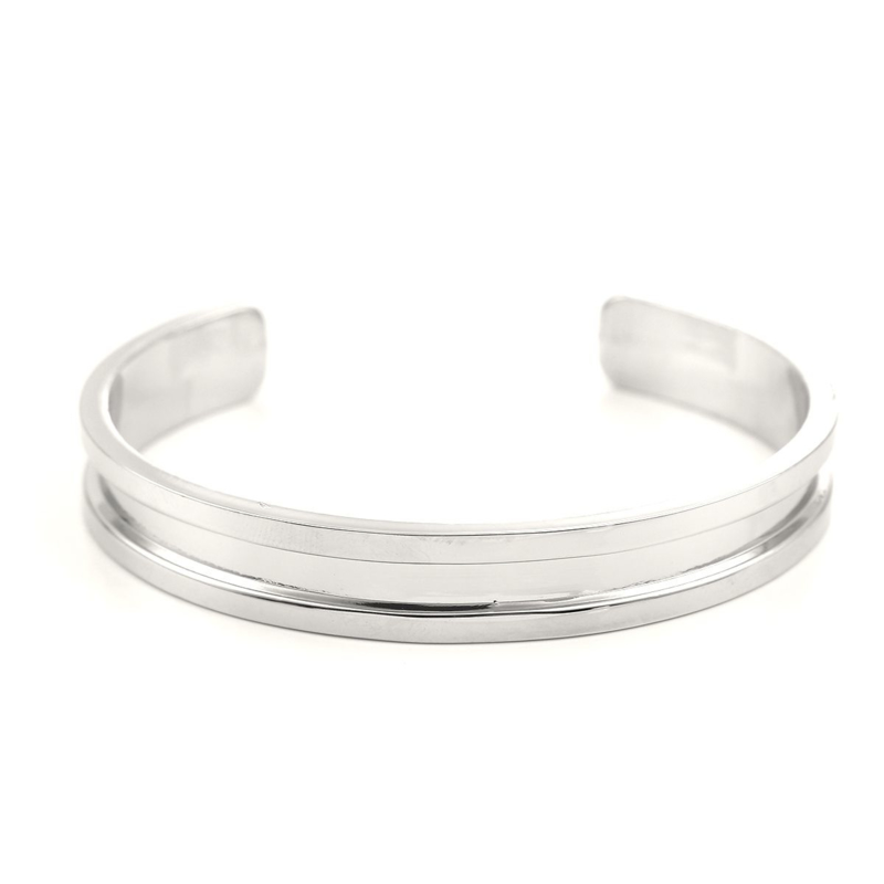 Metalen Open Cuff  Armband Channel extra smal
